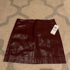 NWTs Vegan Leather Mini Skirt